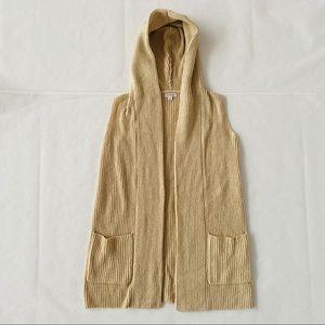 Merona   @ Hooded Sleeveless Open Front Sweater S